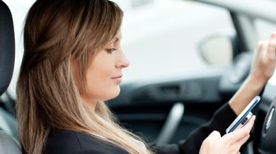 Talking Or Texting While Driving Is Dangerous.